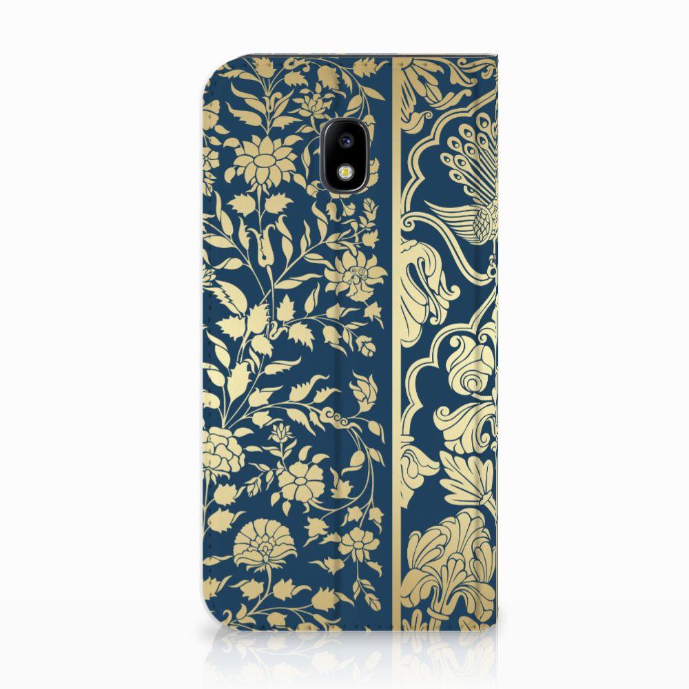 Samsung Galaxy J3 2017 Standcase Hoesje Golden Flowers