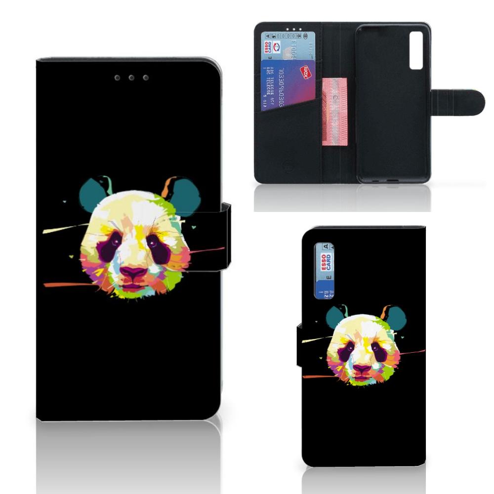 Samsung Galaxy A7 (2018) Leuk Hoesje Panda Color