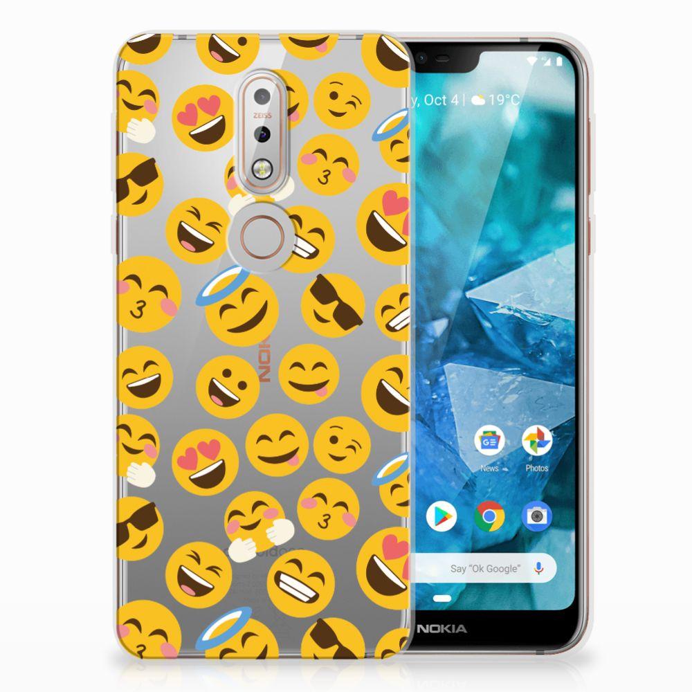 Nokia 7.1 TPU Hoesje Design Emoji