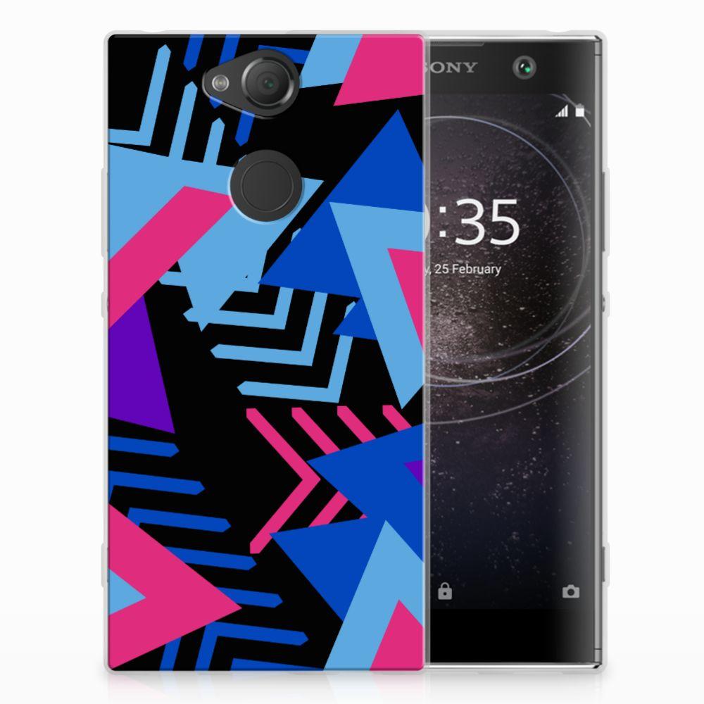 Sony Xperia XA2 TPU Hoesje Funky Triangle