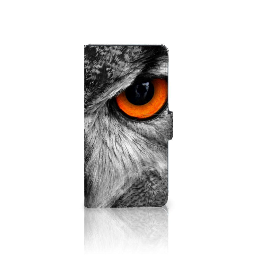 Samsung Galaxy A8 Plus (2018) Boekhoesje Design Uil