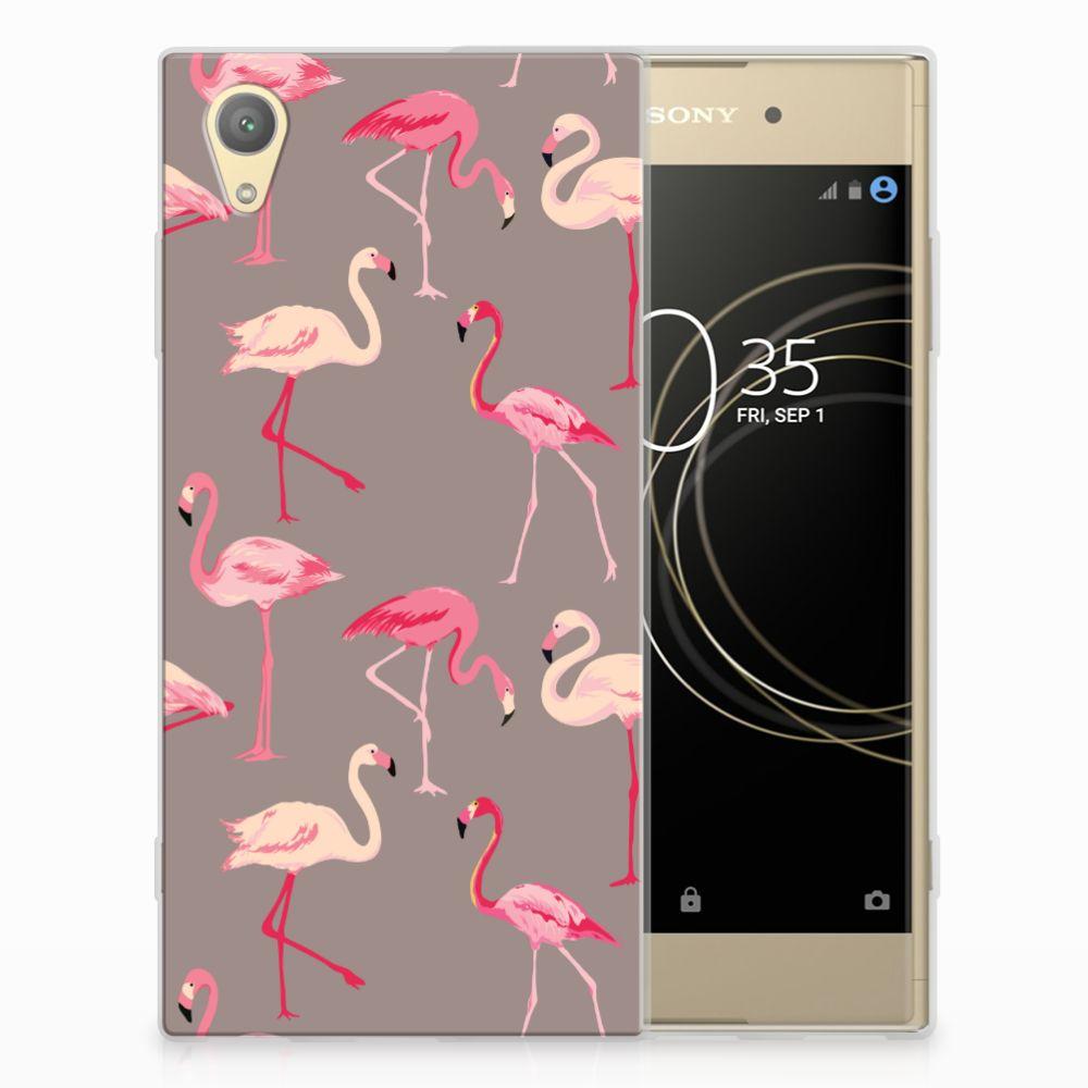 Sony Xperia XA1 Plus Uniek TPU Hoesje Flamingo