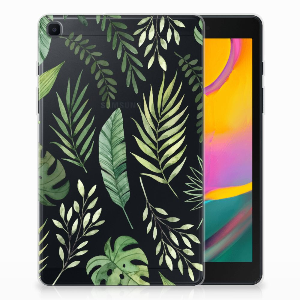 Samsung Galaxy Tab A 8.0 (2019) Siliconen Hoesje Leaves