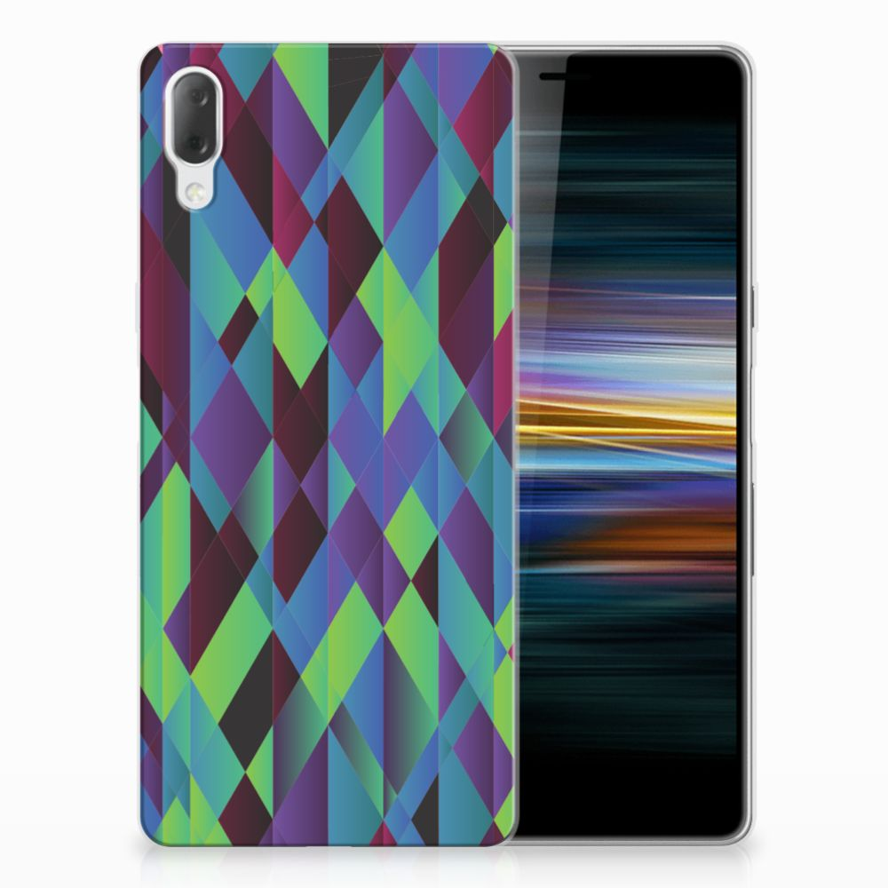 Sony Xperia L3 TPU Hoesje Abstract Green Blue