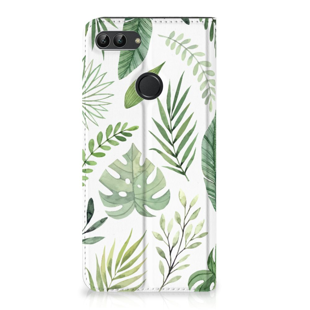 Huawei P Smart Uniek Standcase Hoesje Leaves