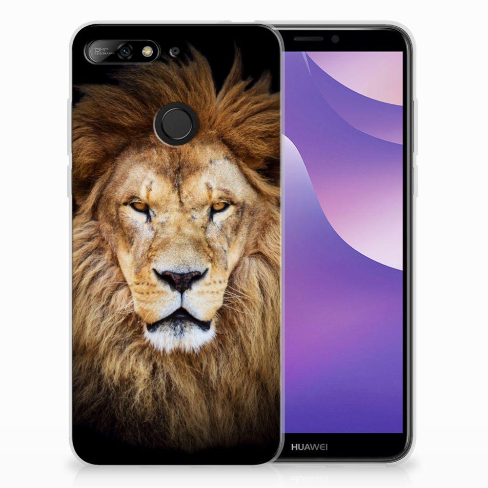 Huawei Y6 (2018) TPU Hoesje Design Leeuw