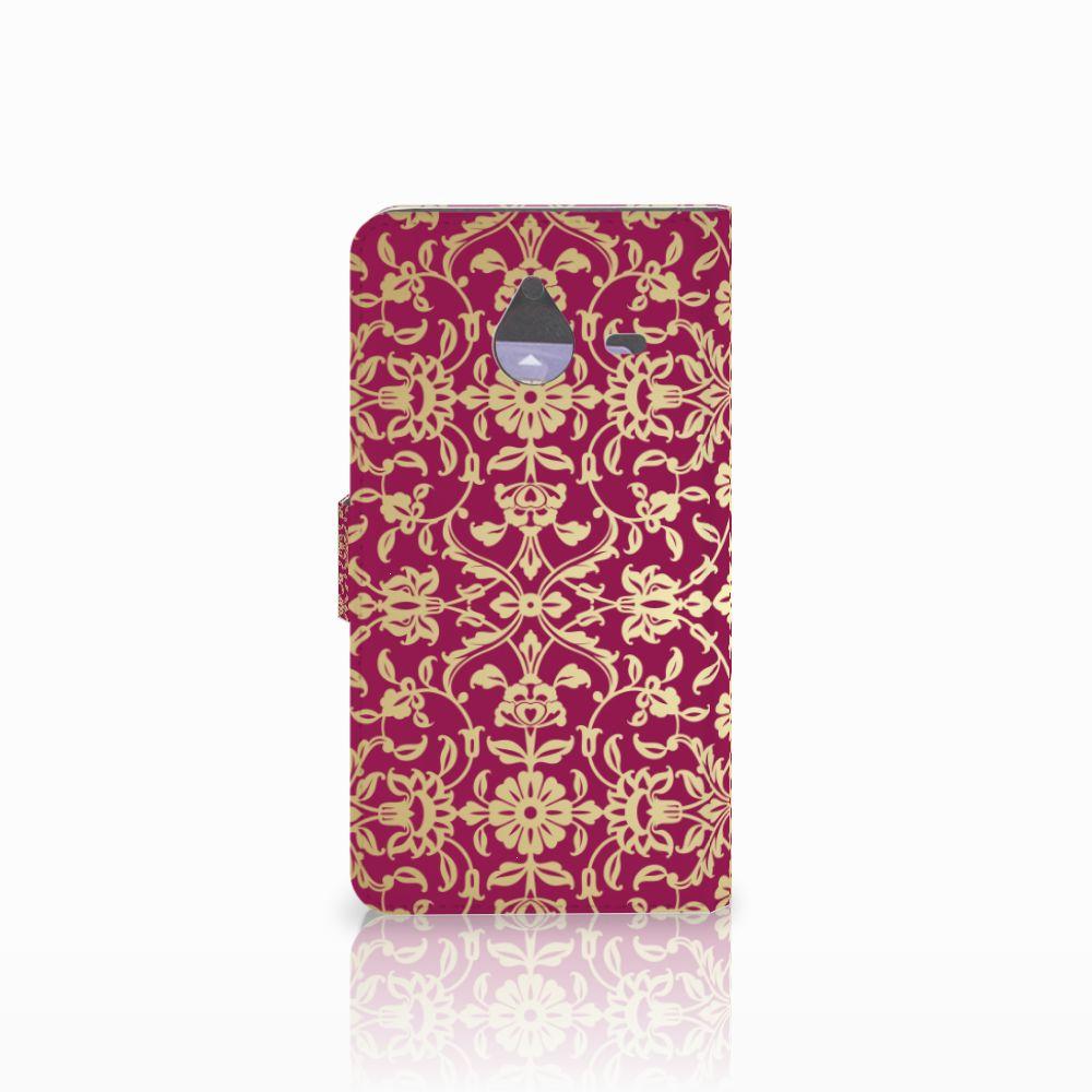 Wallet Case Microsoft Lumia 640 XL Barok Pink