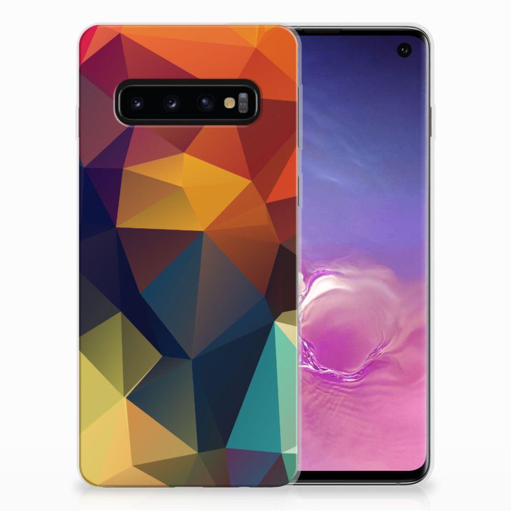 Samsung Galaxy S10 TPU Hoesje Polygon Color