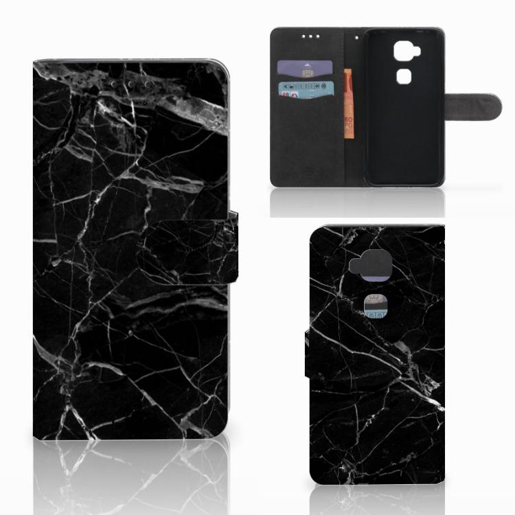 Huawei G8 Bookcase Marmer Zwart