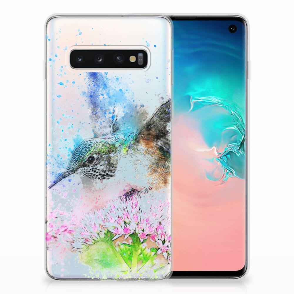 Samsung Galaxy S10 TPU Hoesje Design Vogel