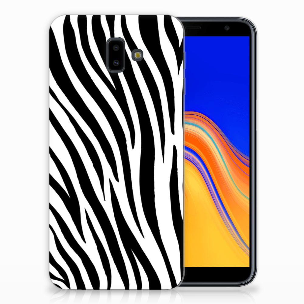 Samsung Galaxy J6 Plus (2018) Leuk Hoesje Zebra