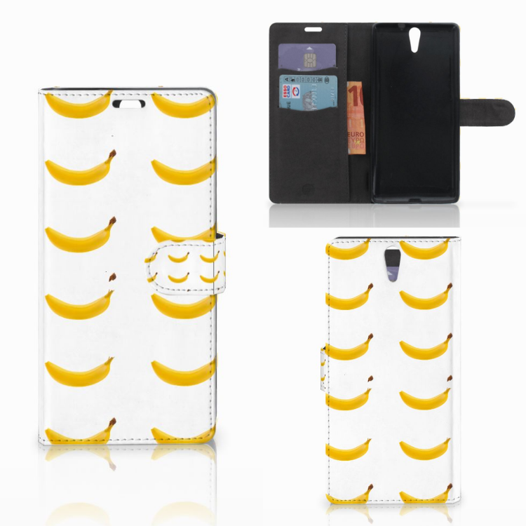 Sony Xperia C5 Ultra Book Cover Banana