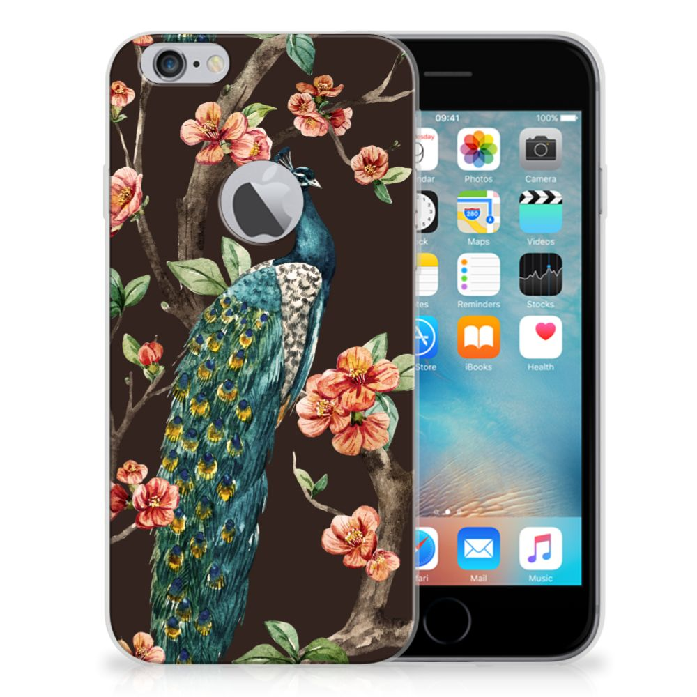 Apple iPhone 6 Plus | 6s Plus TPU Hoesje Pauw met Bloemen