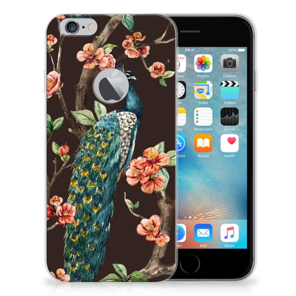 Apple iPhone 6 Plus | 6s Plus TPU Hoesje Design Pauw met Bloemen