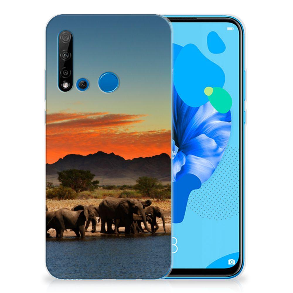 Huawei P20 Lite (2019) TPU Hoesje Olifanten
