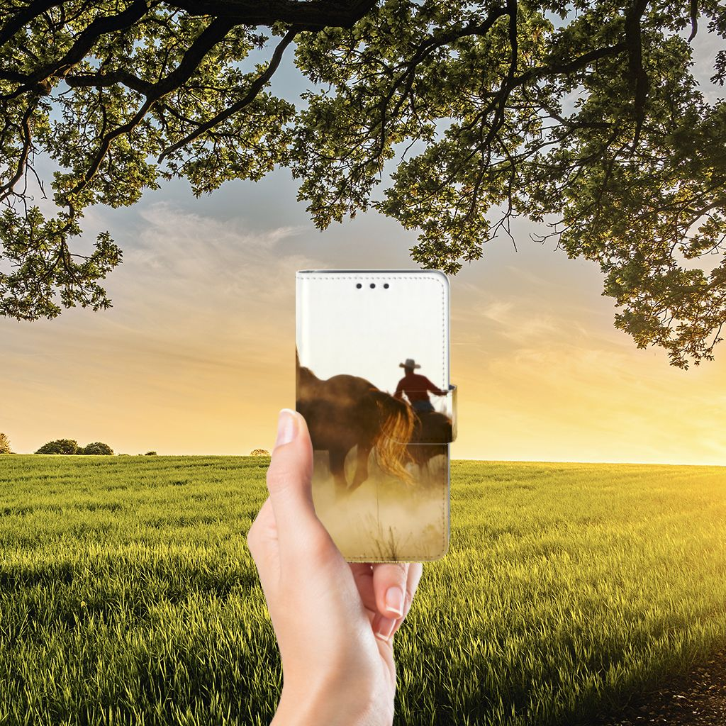 Samsung Galaxy J5 (2015) Telefoonhoesje met Pasjes Design Cowboy