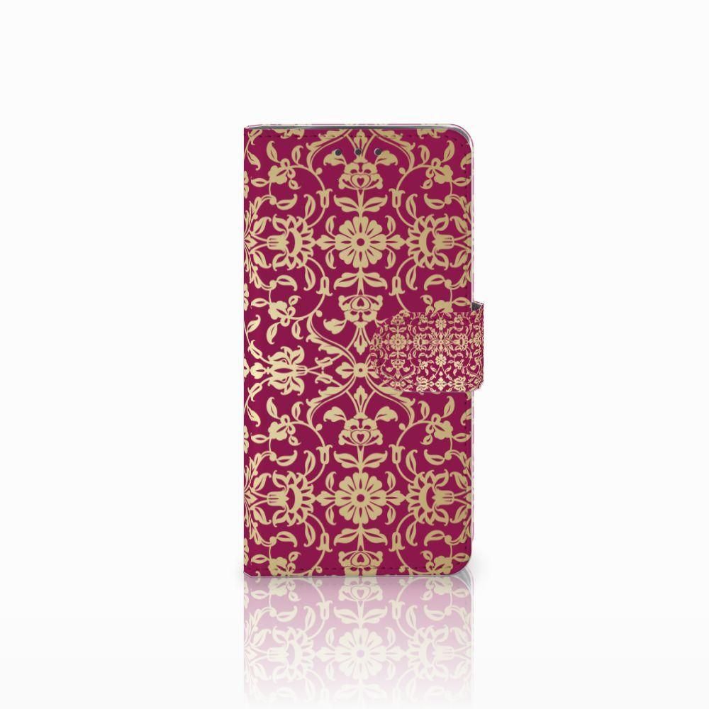 Wallet Case Motorola Moto X4 Barok Pink