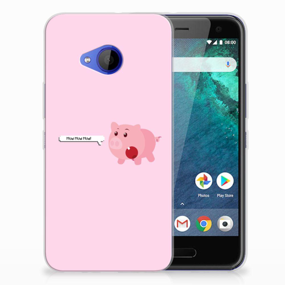 HTC U11 Life Uniek TPU Hoesje Pig Mud