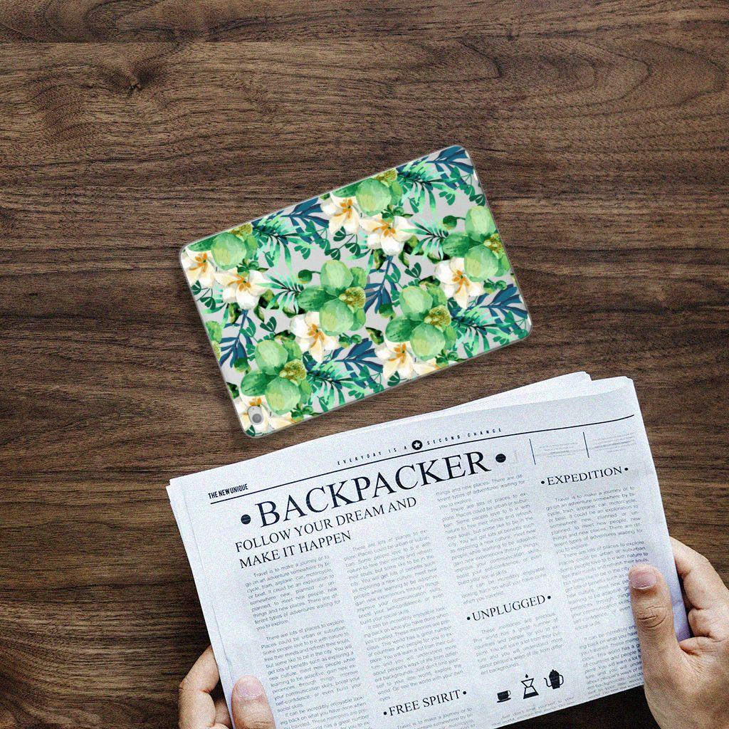 Apple iPad Mini 4 Uniek Tablethoesje Orchidee Groen
