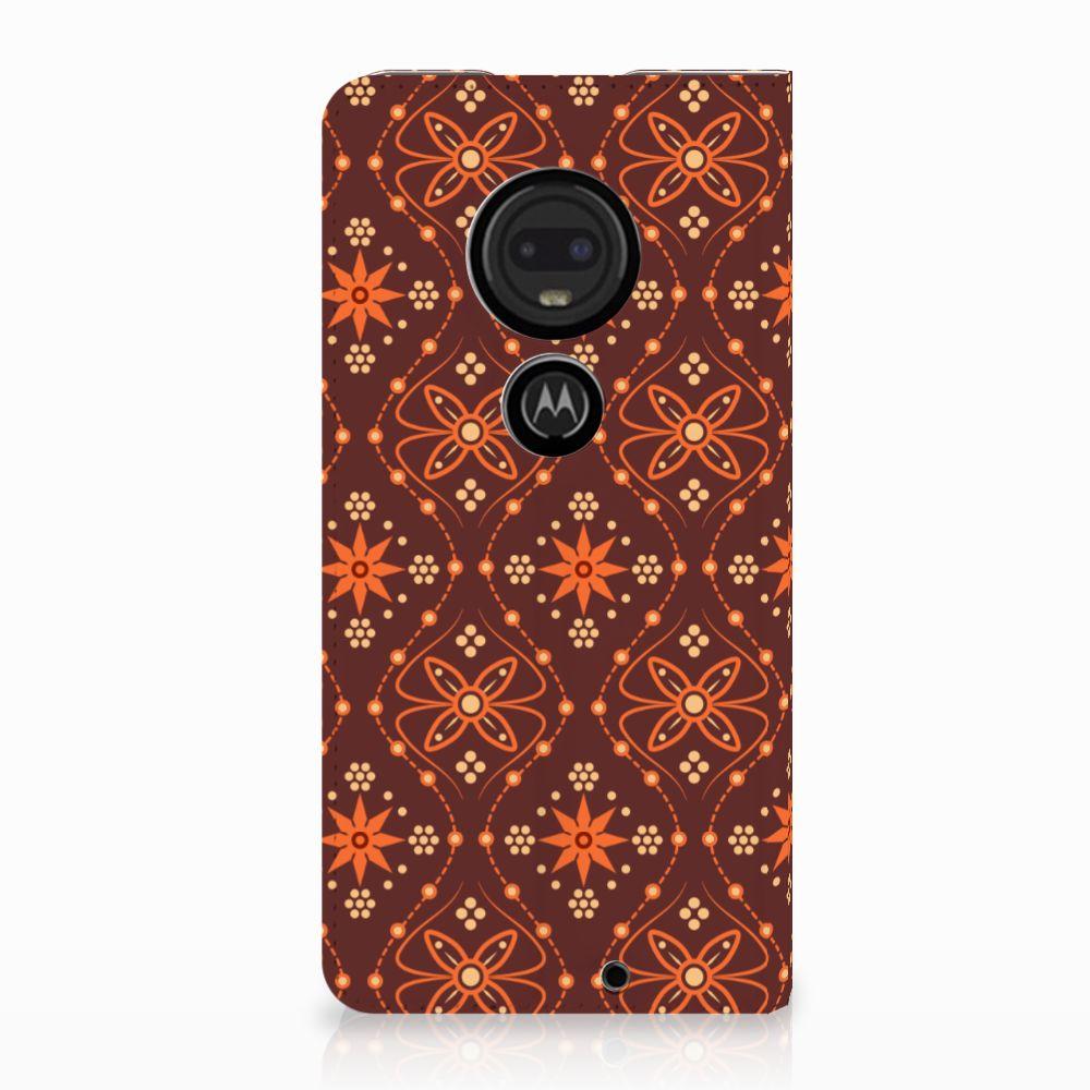 Motorola Moto G7 | G7 Plus Uniek Standcase Hoesje Batik Brown