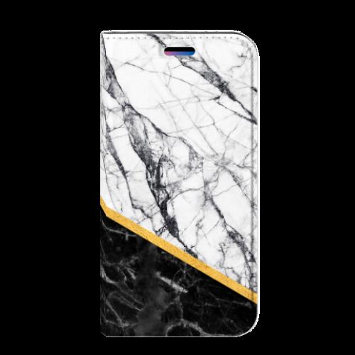 Apple iPhone X   Xs Uniek Standcase Hoesje Marble White Black