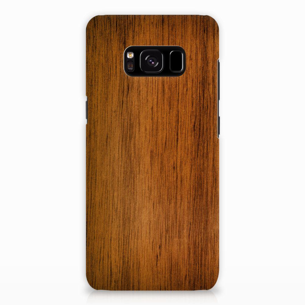 Samsung Galaxy S8 Uniek Hardcase Hoesje Donker Hout