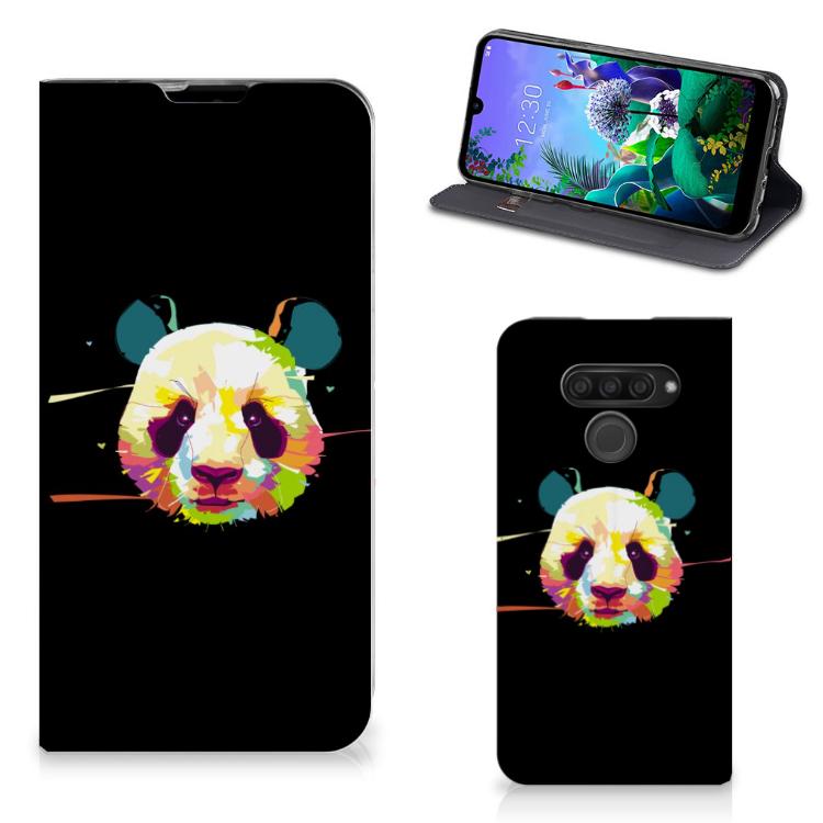 LG Q60 Magnet Case Panda Color