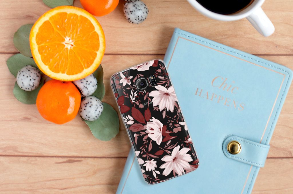 Hoesje maken Samsung Galaxy S7 Edge Watercolor Flowers