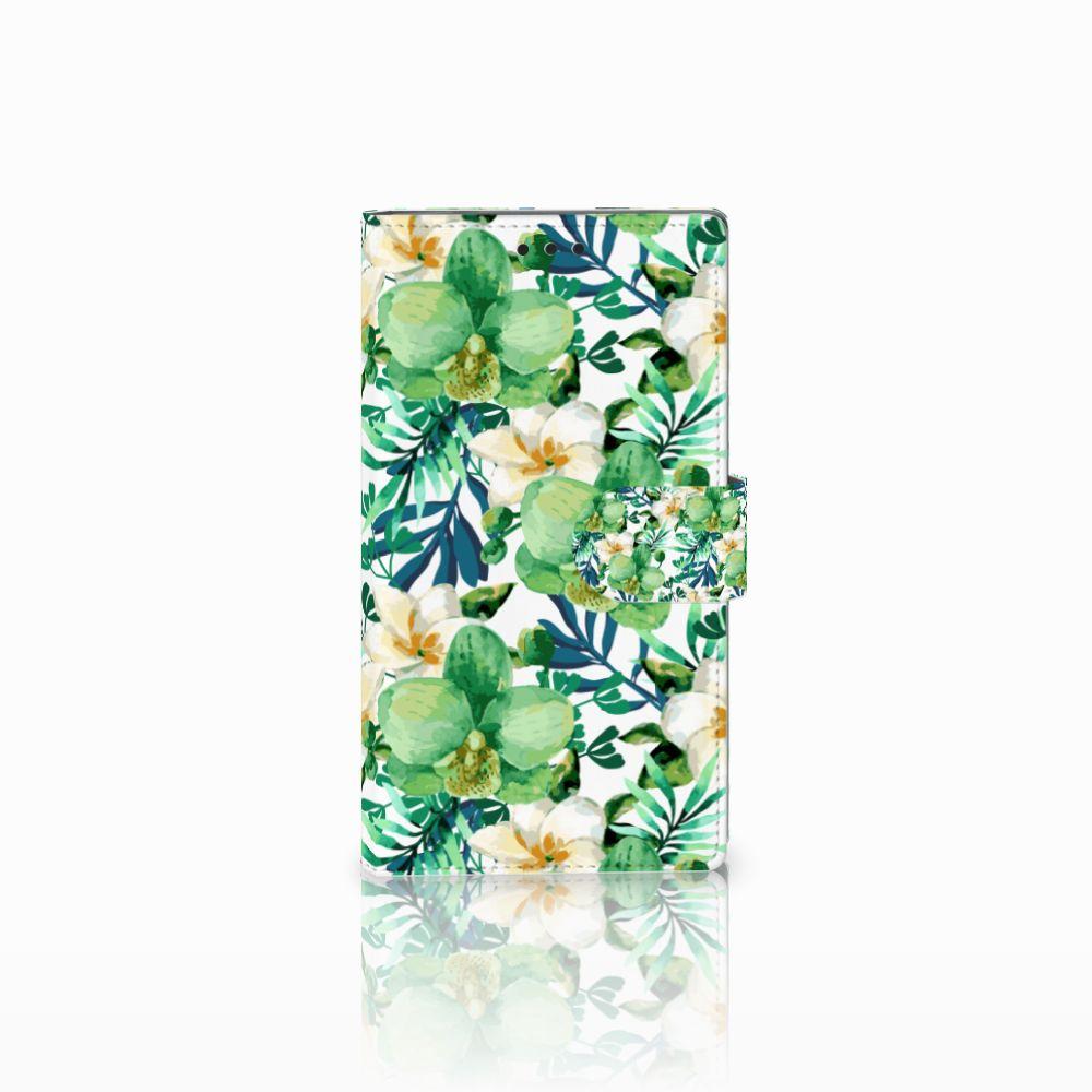 Sony Xperia L2 Uniek Boekhoesje Orchidee Groen