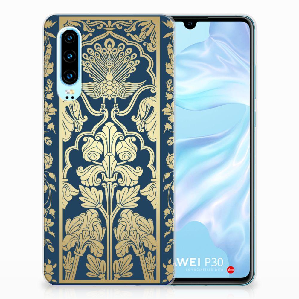 Huawei P30 TPU Case Golden Flowers