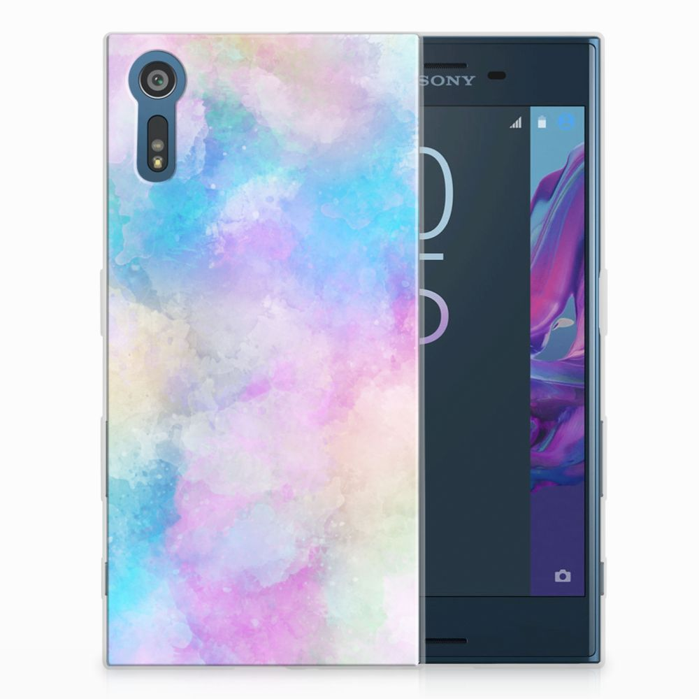 Sony Xperia XZs | XZ Uniek TPU Hoesje Watercolor Light