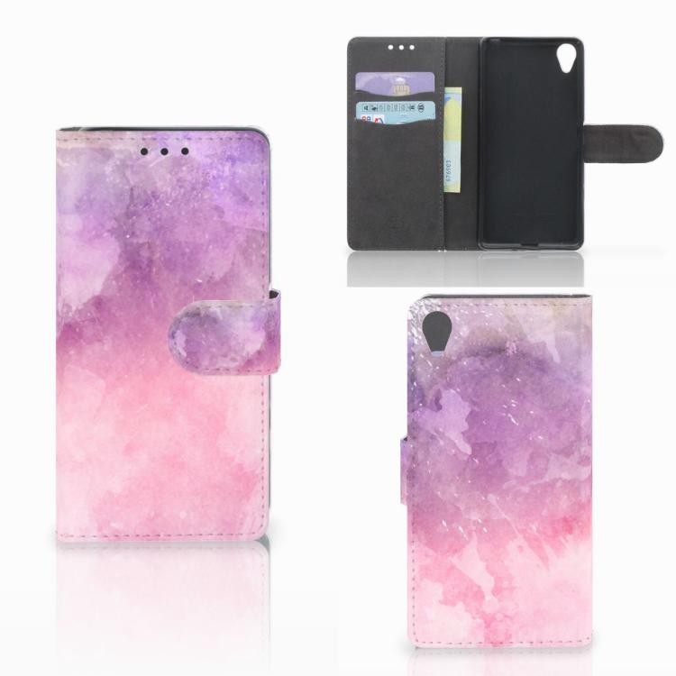 Hoesje Sony Xperia X Pink Purple Paint