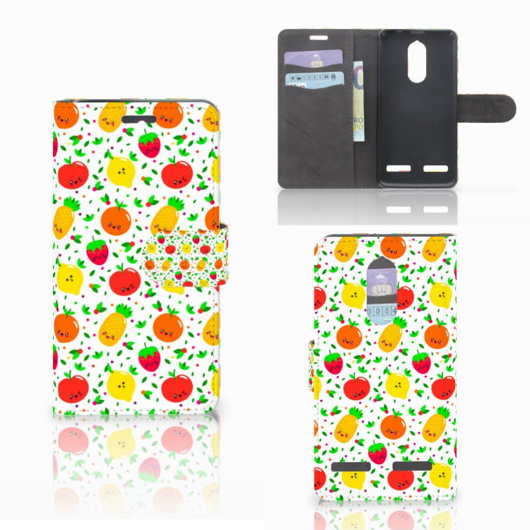 Lenovo K6 Book Cover Fruits