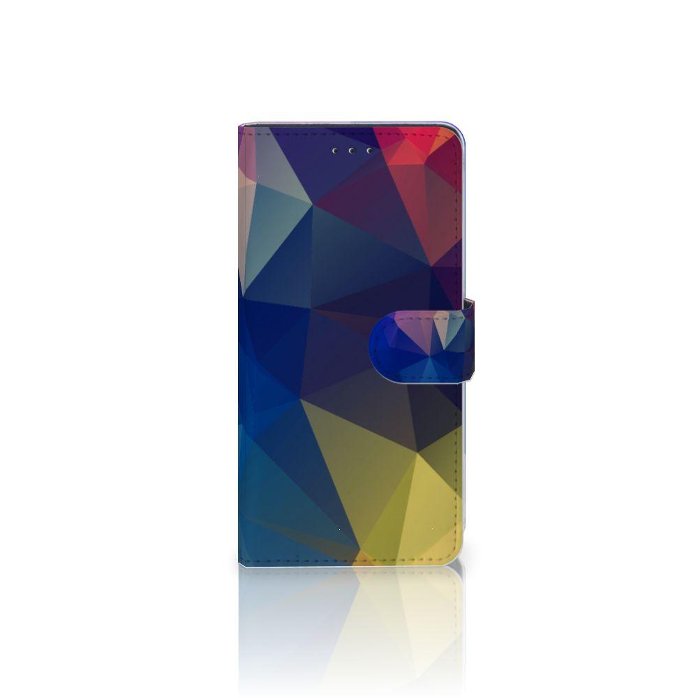 Motorola Moto Z2 Play Bookcase Polygon Dark