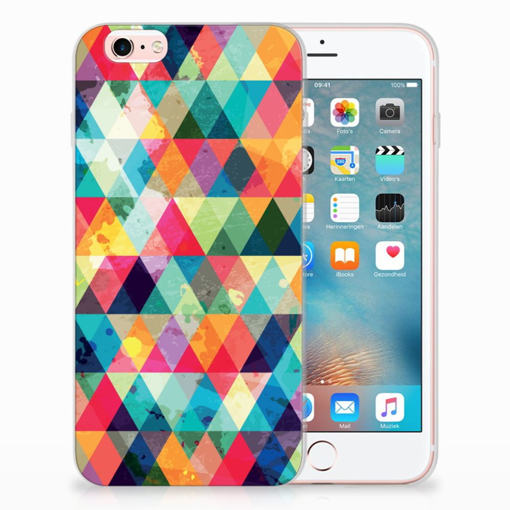Apple iPhone 6 | 6s Uniek TPU Hoesje Geruit