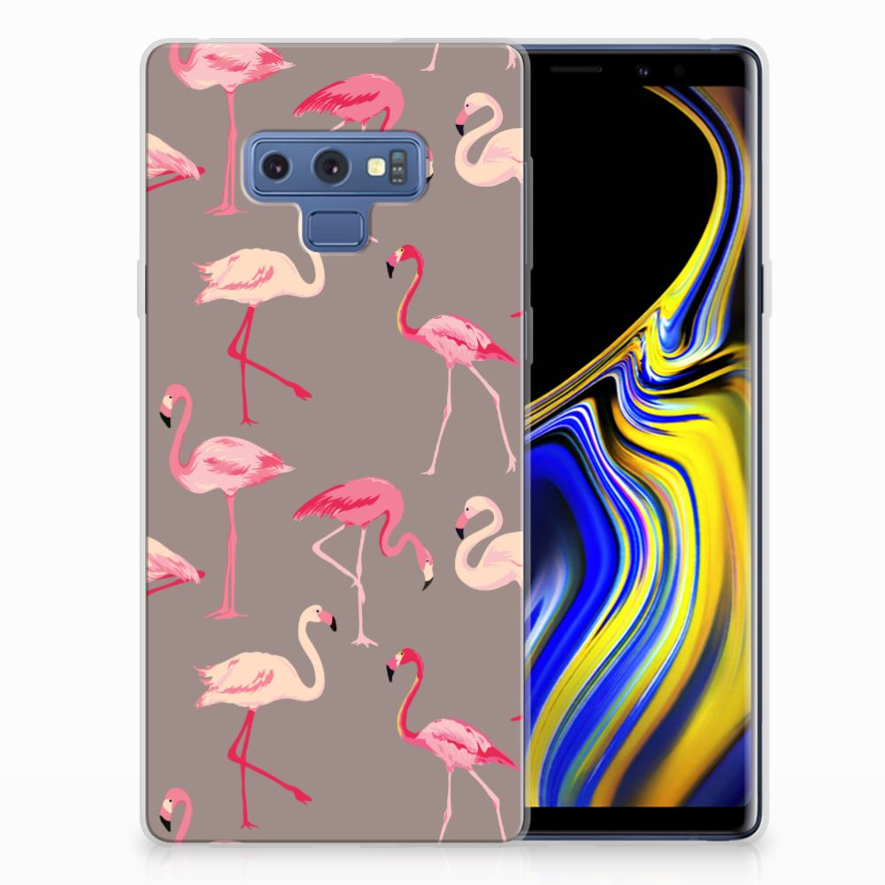 Samsung Galaxy Note 9 Uniek TPU Hoesje Flamingo