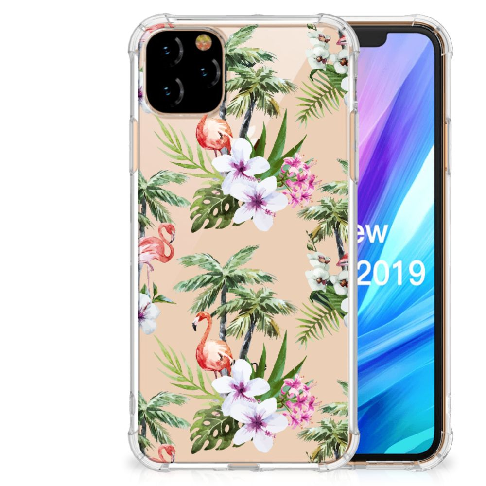 Apple iPhone 11 Pro Max Case Anti-shock Flamingo Palms