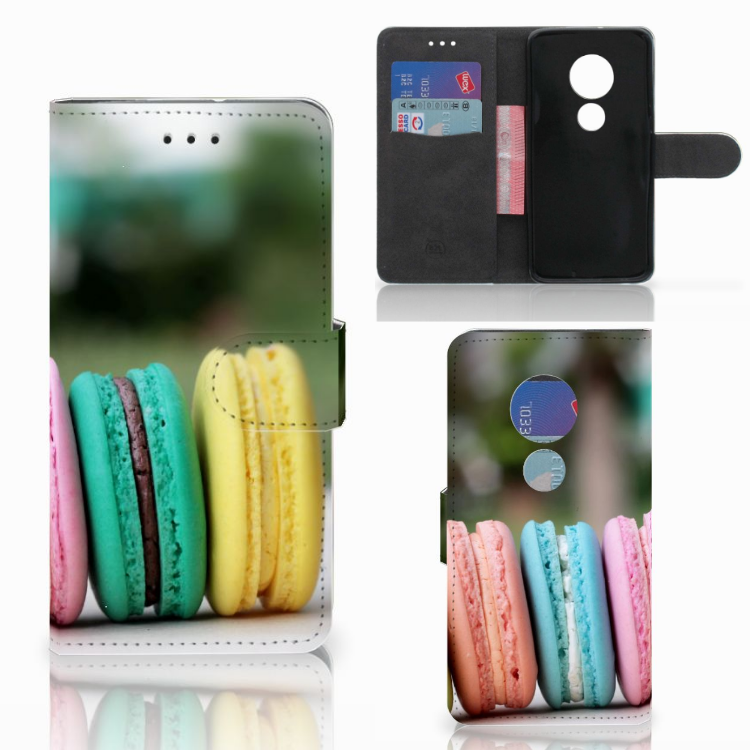 Motorola Moto G7 Play Book Cover Macarons