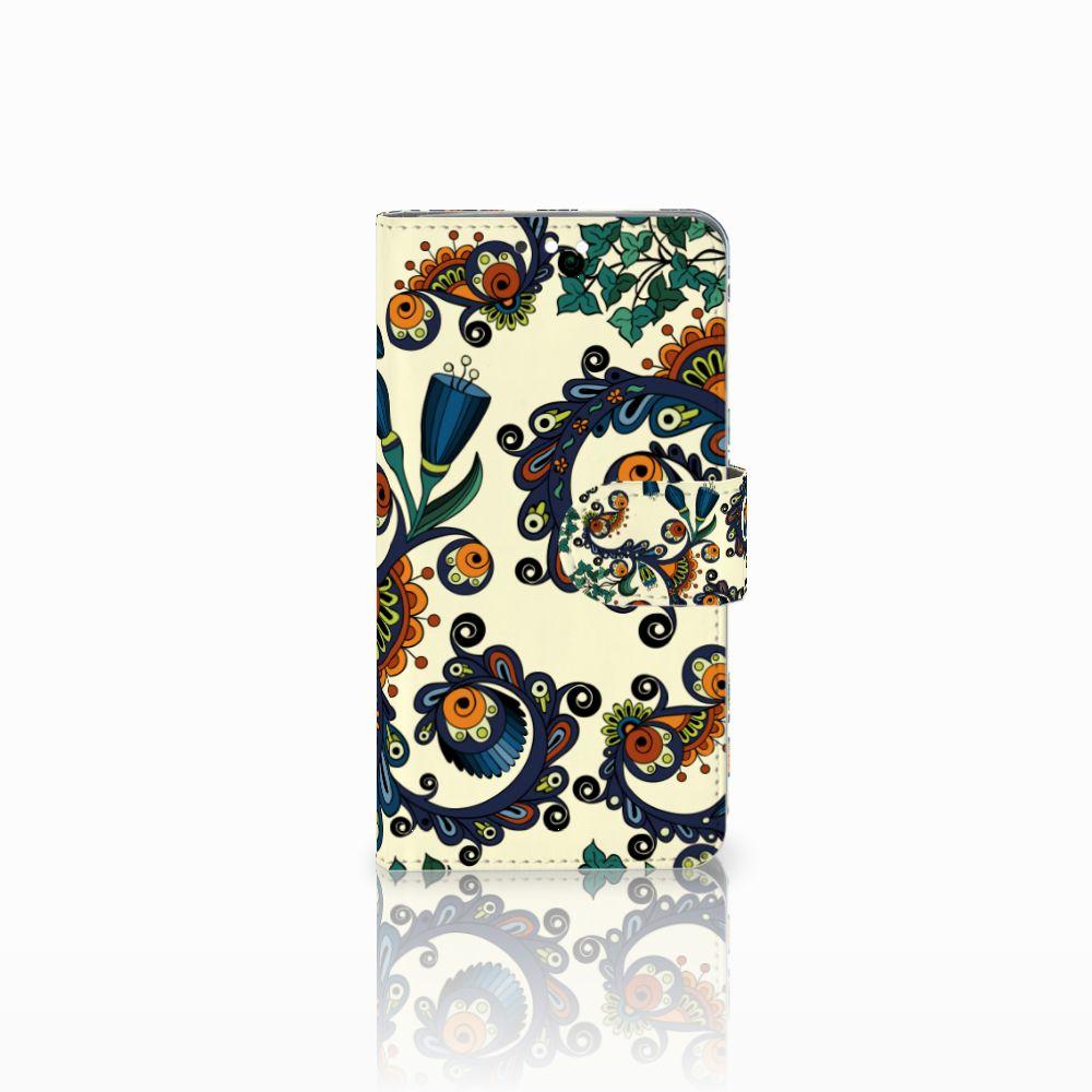 Nokia 8 Sirocco | Nokia 9 Boekhoesje Design Barok Flower