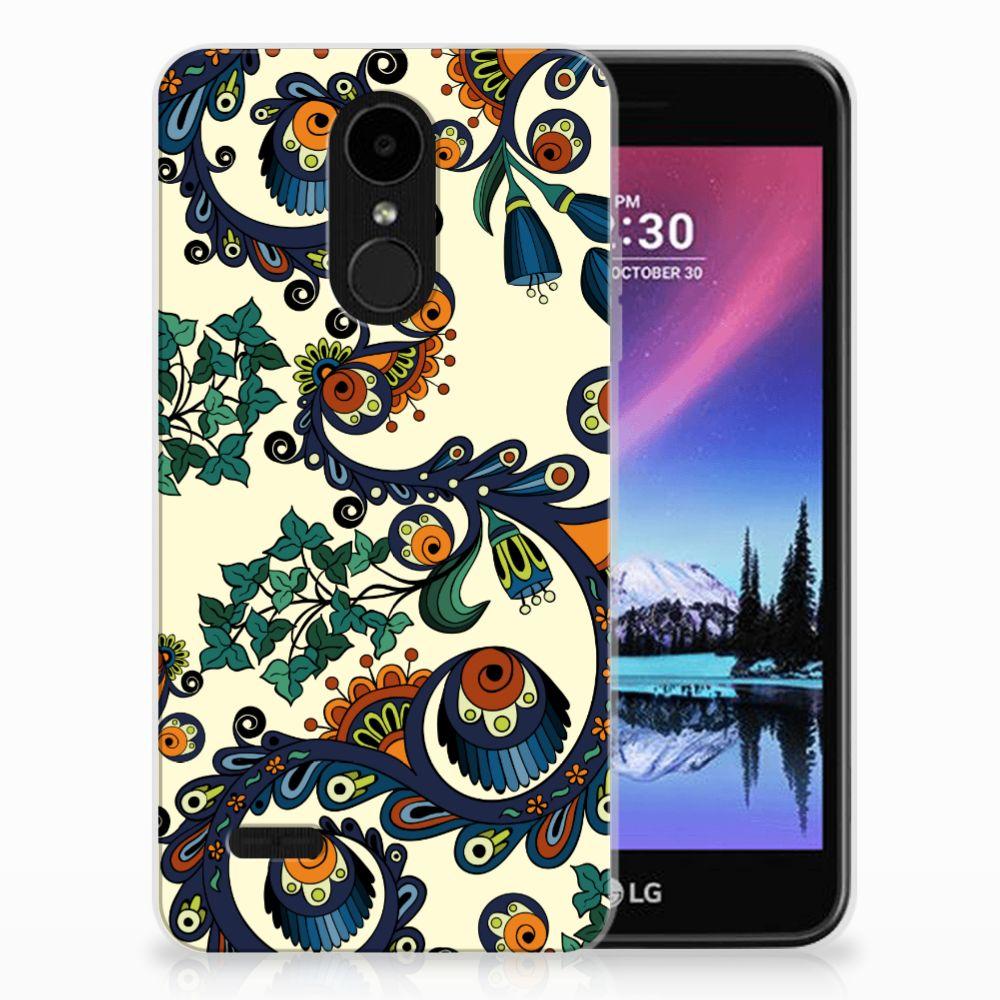 LG K4 (2017) TPU Hoesje Design Barok Flower