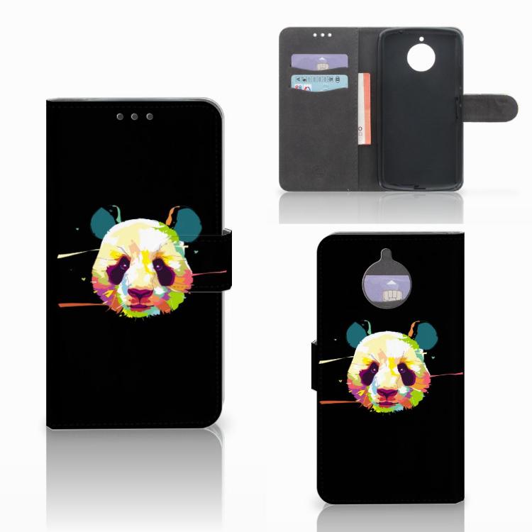 Motorola Moto E4 Plus Leuke Hoesje Panda Color