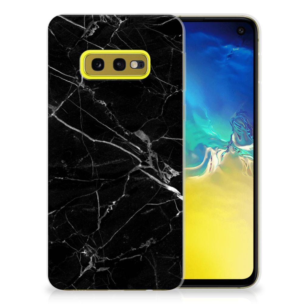 Samsung Galaxy S10e TPU Siliconen Hoesje Marmer Zwart