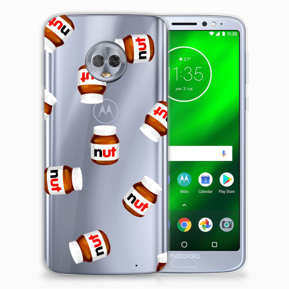 Motorola Moto G6 Plus Siliconen Case Nut Jar
