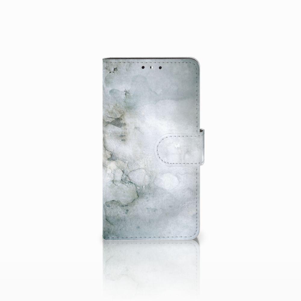 Huawei Y5   Y6 2017 Uniek Boekhoesje Painting Grey