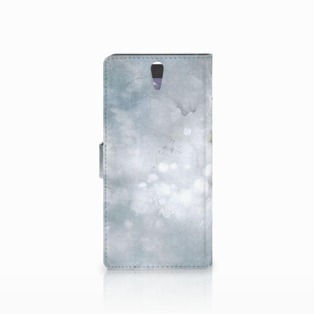 Hoesje Sony Xperia C5 Ultra Painting Grey