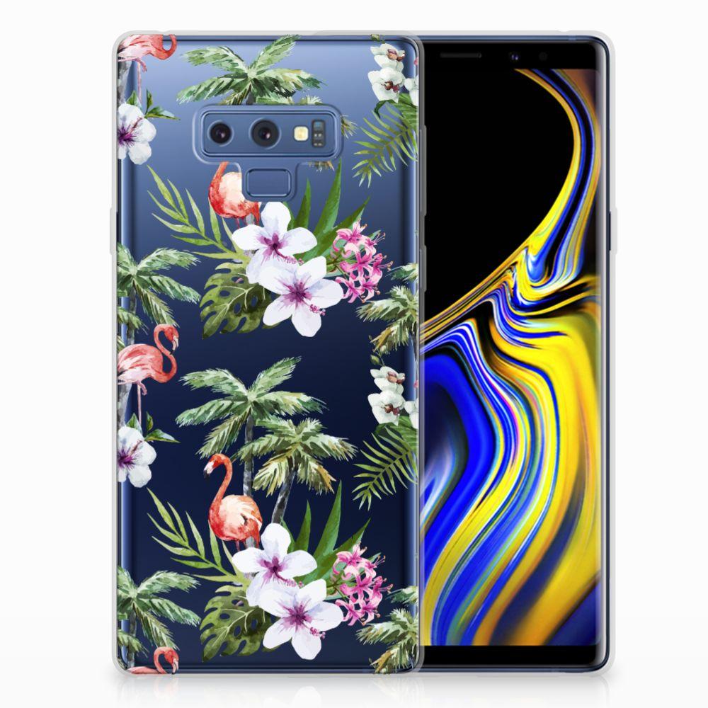 Samsung Galaxy Note 9 TPU Hoesje Flamingo Palms
