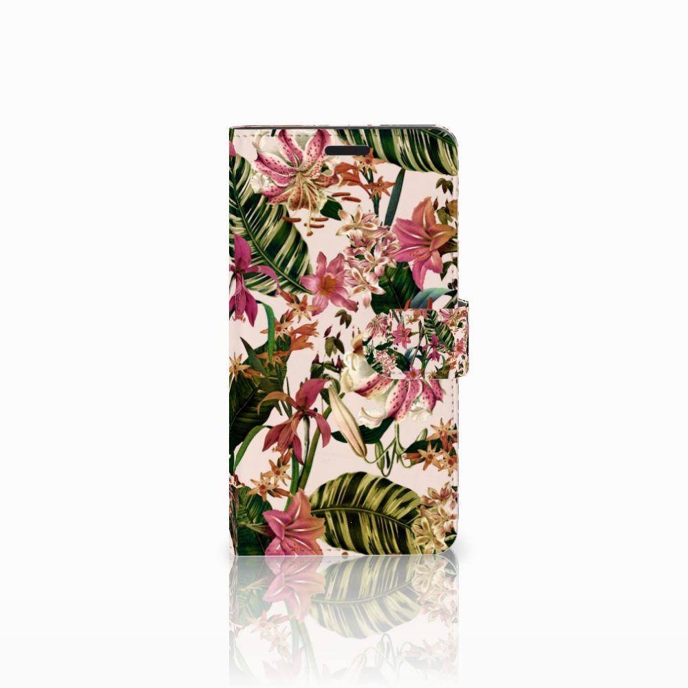 Sony Xperia T3 Uniek Boekhoesje Flowers