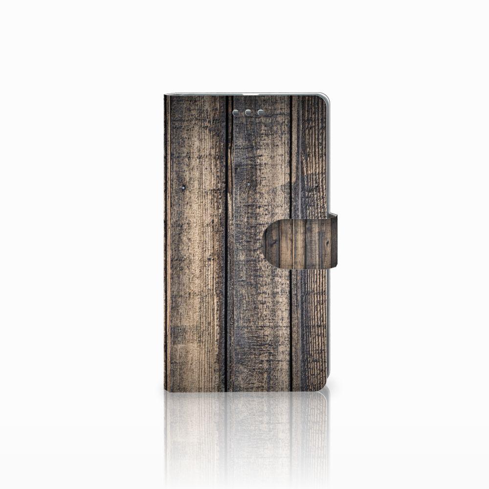 Microsoft Lumia 950 XL Boekhoesje Design Steigerhout