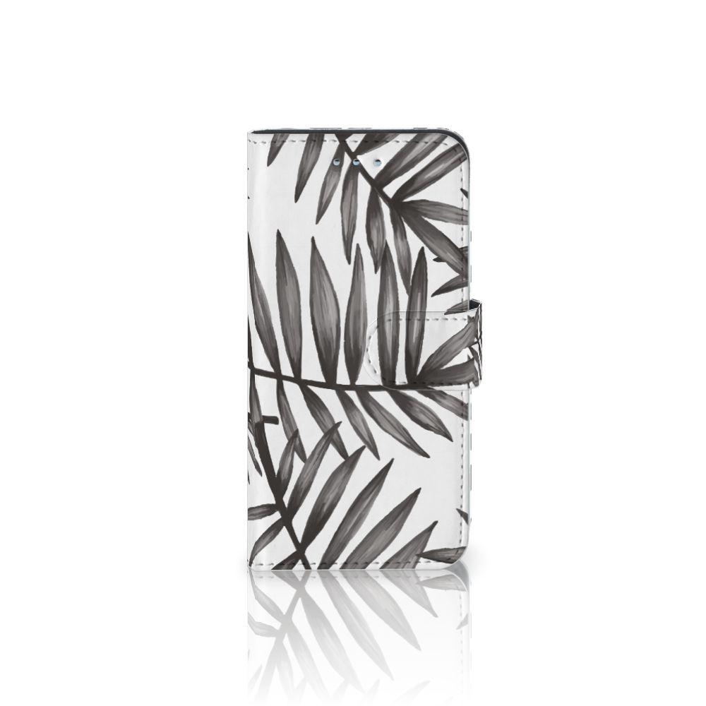 Samsung Galaxy S6 | S6 Duos Uniek Boekhoesje Leaves Grey