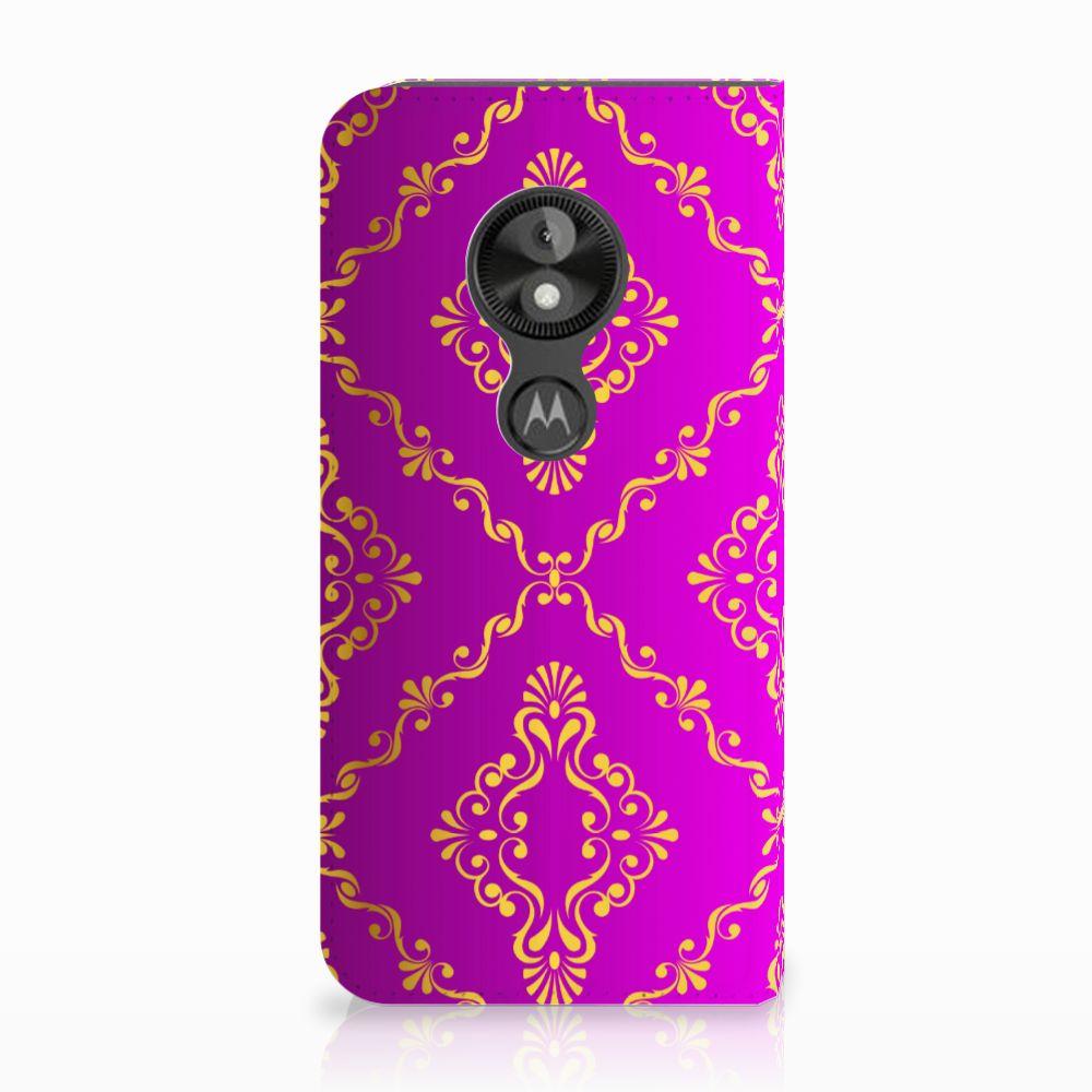 Motorola Moto E5 Play Uniek Standcase Hoesje Barok Roze